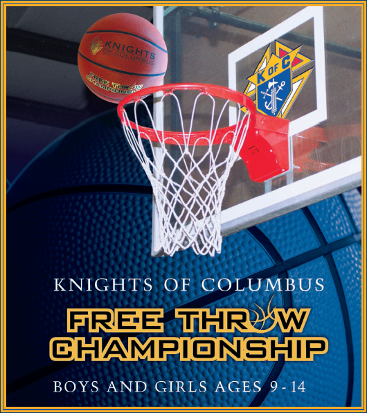 Knights of Columbus Basketball Free Throw Championship Feb 6th @ 6:30PM at HTA!